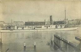 CARTE PHOTO - BATEAU - Peniche Quais De Seine ? PARIS ? 75 ? Port Transport à Identifier - Houseboats