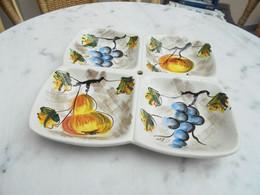 Ancien Plateau En Ceramique Italienne Italy Vintage Années 60 - Non Classificati