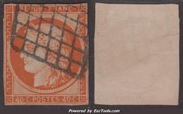 40c Orange Vif De 1850 Défectueux à -25€ ! (Dallay N° 5b, Cote 750€) - 1849-1850 Ceres
