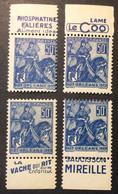 257 - 5 Jeanne D'Arc Neuf * Publicité Pub Falières Le Coq Vache Qui Rit Mireille Lot De 4 - Nuevos