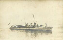 CARTE PHOTO - BATEAU - MILITARIA  Marine Guerre Torpilleur ? Cuirasser ? Croiseur ? à Identifier - Warships