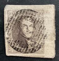 Medaillon 6 - 10c Gestempeld P78 MALINES - 1851-1857 Medallones (6/8)