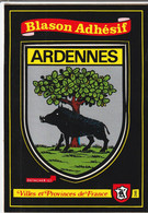 1034 -  08 - BLASON ADHESIF ARDENNES . VILLE ET PROVINCES DE FRANCE. SCANS  RECTO VERSO - Ohne Zuordnung