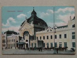 Ukraine 552 Bukowina Bucovina Bukovina Czernowitz Cernauti Chernivtsi Cernivci 1910 Ed. Horowitz Russia Stamp Bahnhof - Ukraine