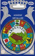 1034 -  08 -  ADHESIF METALLISE ARDENNES . VILLE ET PROVINCES DE FRANCE. SCANS  RECTO VERSO - Ohne Zuordnung