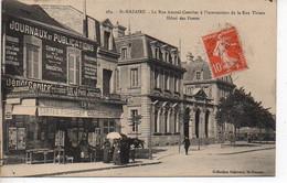Saint Nazaire : La Rue Amiral Courbet à L'intersection De La Rue Thiers - Hôtel Des Postes - Saint Nazaire