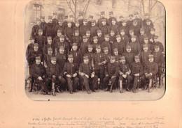Photo (75 X 33 Cm). Officiers Du 32e Régiment D'artillerie, Leurs Noms Sont Inscrits Sous La Photo - Guerra, Militari