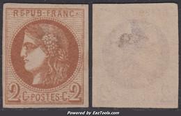 2c Bordeaux Neuf (*) Aspect TB (Y&T N° 40B, Cote *: 360€ ) - 1870 Emisión De Bordeaux