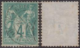 4c Sage Type I (N/B) Oblitéré TB (Y&T N° 63, Cote  90€) - 1876-1878 Sage (Typ I)