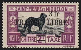 SAINT-PIERRE-ET-MIQUELON Taxe N°56a, Variété FNFL Omis, Neuf ** COTE 50€ - Segnatasse