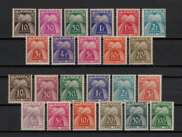 Timbres-Taxe 1943/1959, Les 2 Séries, Neufs ** Sans Charnière COTE 166 € - TB - 1859-1955 Nuovi