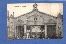 45 - COURTENAY : La Halle En 1915 - Courtenay
