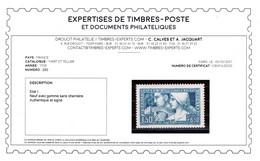 Signé CALVES + Certificat - YV 252 N** Le Travail Type I , Bien Centré Cote 260+ Euros - Unused Stamps