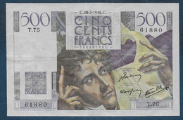 500 Francs  Chateaubriand  Du  28 - 3 - 1946 - 500 F 1945-1953 ''Chateaubriand''
