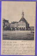 Carte Postale Allemande  80. Péronne  La Place  Très Beau Plan - Peronne