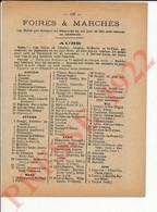 2 Vues Foires (agricoles) Et Marchés Département Aube Etourvy Chesley Auxon Plancy Ervy Villery Etc ... 250/16 - Unclassified