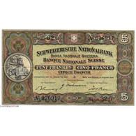 SUISSE 5 Francs 31/08/1946 Pick 11l - Svizzera