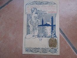 1901 IV Esposizione Internazionale D'ARTE Della Città Stampa A Rilievo Leone S.Marco Viaggiata Affrancata - Venezia