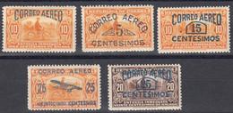 Panama Poste Aerienne 1929 Yvert 1 / 5 * Neufs Avec Charniere. T. Pour Espres De 1929 Avec Surcharge - Panamá