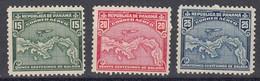 Panama Poste Aerienne 1938 Yvert 6 / 8 * Neufs Avec Charniere. - Panamá