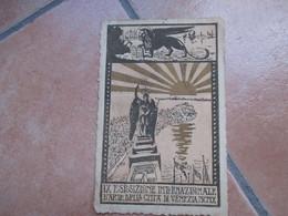 1910 IX Esposizione Internazionale D'ARTE Della Città Di VENEZIA Carta Porosa  Viaggiata Affrancata - Venezia