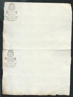 Cachet Généralité De Moulins Quart De Feuille 6 Deniers, Sur Document Vierge  Bb 16303 - Seals Of Generality