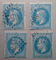 8  NAPOLÉON N°29 AVEC VARIÉTÉS A1 CASSURES DES FILETS - 1863-1870 Napoleone III Con Gli Allori