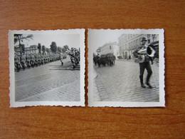 VERSAILLES WW2 GUERRE 39 45   DEFILE DE SOLDATS ALLEMANDS  DEVANT LA PREFECTURE - Versailles