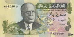 Tunisie 1/2 Dinar (P69) 1973 (Pref: A/5) -UNC- - Tunisia