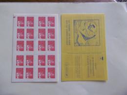 FRANCE   CARNET  C3419 C4A   CARNET MARIANNE DE LUQUET AVEC REPERE ELECTONIQUE COIN GAUCHE - Uso Corrente