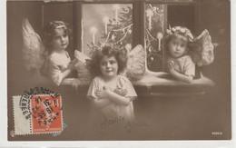 ENFANTS 1583 : Trois Fillettes Petit Ange ; édit. G L C ? N° 4099/6 - Grupo De Niños Y Familias