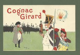 CARTE POSTALE COGNAC GIRARD ILLUSTRATEUR TRICK - Advertising