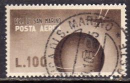 REPUBBLICA DI SAN MARINO 1947 POSTA AEREA VALORE COMPLEMENTARE VEDUTE VIEWS AIR MAIL LIRE 100 USATO USED OBLITERE' - Airmail