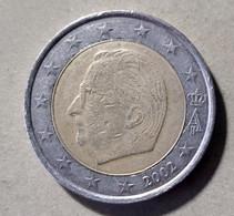 2002 -  BELGIO - MONETA IN EURO - DEL VALORE DI  2,00 EURO  - CIRCOLATA - Belgien
