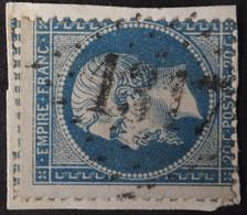 22/fgmt, Obl GC 1317 Domène (37 Isère ) Ind 5 ; Frappe TB Centrée - 1849-1876: Période Classique