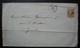 Limoges 1858 Part De Décès De Jean Lagrange, Familles Lagrange Sauty, Envoyé à Eymoutiers - Esquela