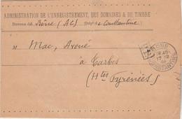 Algérie Lettre Cachet PP Port Payé BONE Constantine 17/12/1909 Pour Tarbes Hautes Pyrénées - Zonder Classificatie