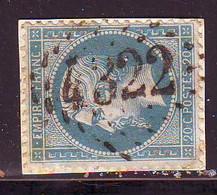 20 C Empire Obl GROS CHIFFRES 4322 De VONAS Ain - 1849-1876: Période Classique