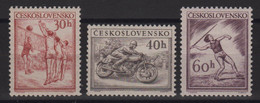 Tchecoslovaquie  - N°727 à 729 - Sports - Cote 18€ - ** Neufs Sans Charniere - Nuovi
