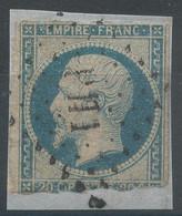 Lot N°61699    N°14A/fragment, Oblitéré Losange PH1 Des Ambulants - 1853-1860 Napoleon III