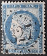 60C Obl GC 1327 Donzère (25 Drome ) Ind 7 ; Frappe Très Nette Et Centrée - 1849-1876: Klassik
