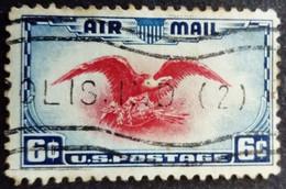 Etats Unis USA 1938 Poste Aerienne Air Mail Animal Oiseau Aigle Bird Eagle Yvert 24 O Used - 1a. 1918-1940 Used
