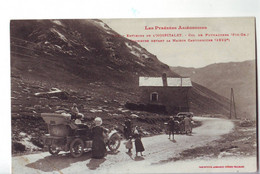 44 BB  CPA TOURISTES DEVANT LA MAISON CANTONNIERE HOSPITALET édition Labouche - Unclassified