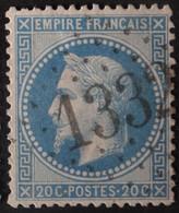 29B Obl GC 1332 Dornes (56 Nièvre ) Ind 6 ; Frappe Très Nette Et Centrée - 1849-1876: Période Classique