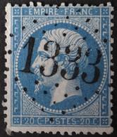 22 Obl GC 1333 Dortan (1 Ain ) Ind 7 ; Frappe Très Nette Et TB Centrée - 1849-1876: Période Classique