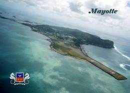 Mayotte Aerial Vuiew Runway New Postcard - Mayotte