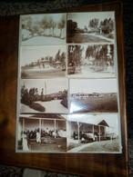 ETIOPIA -LEGAZIONE ITALIANA DA MENELIK II - INIZI DEL 900 PRIMA DELLA GUERRA COLONIALE - 8 FOTO ORIGINALI -8,5X11,5 CM- - War, Military