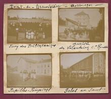240521 - PHOTOS Début XXème - 38 LE PONT DE BEAUVOISIN 1901 Jury Fanfare Militaire Pupille Pompier Gelas - Other Municipalities