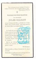 DP Jules Saligot ° Château De Biez Wiers Péruwelz † 1939 - Images Religieuses
