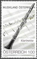 AUSTRIA, 2021, MNH,MUSIC, MUSICAL INSTRUMENTS, THE CLARINET, 1v - Musica
